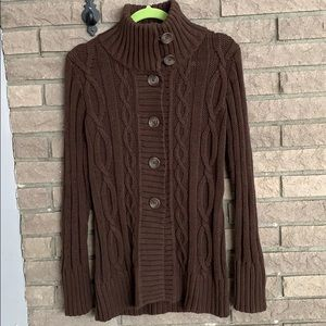 NWT GAP Button Up Cardigan with High Neck
